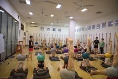 jia teaching sarvangasana 5-4888