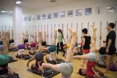 jia teaching sarvangasana 7-4890